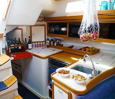 Sailing Dolphin galley